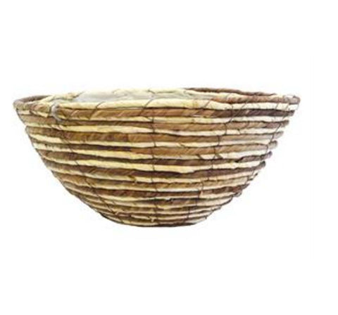 Two-Tone Natural Rope Hanging Basket