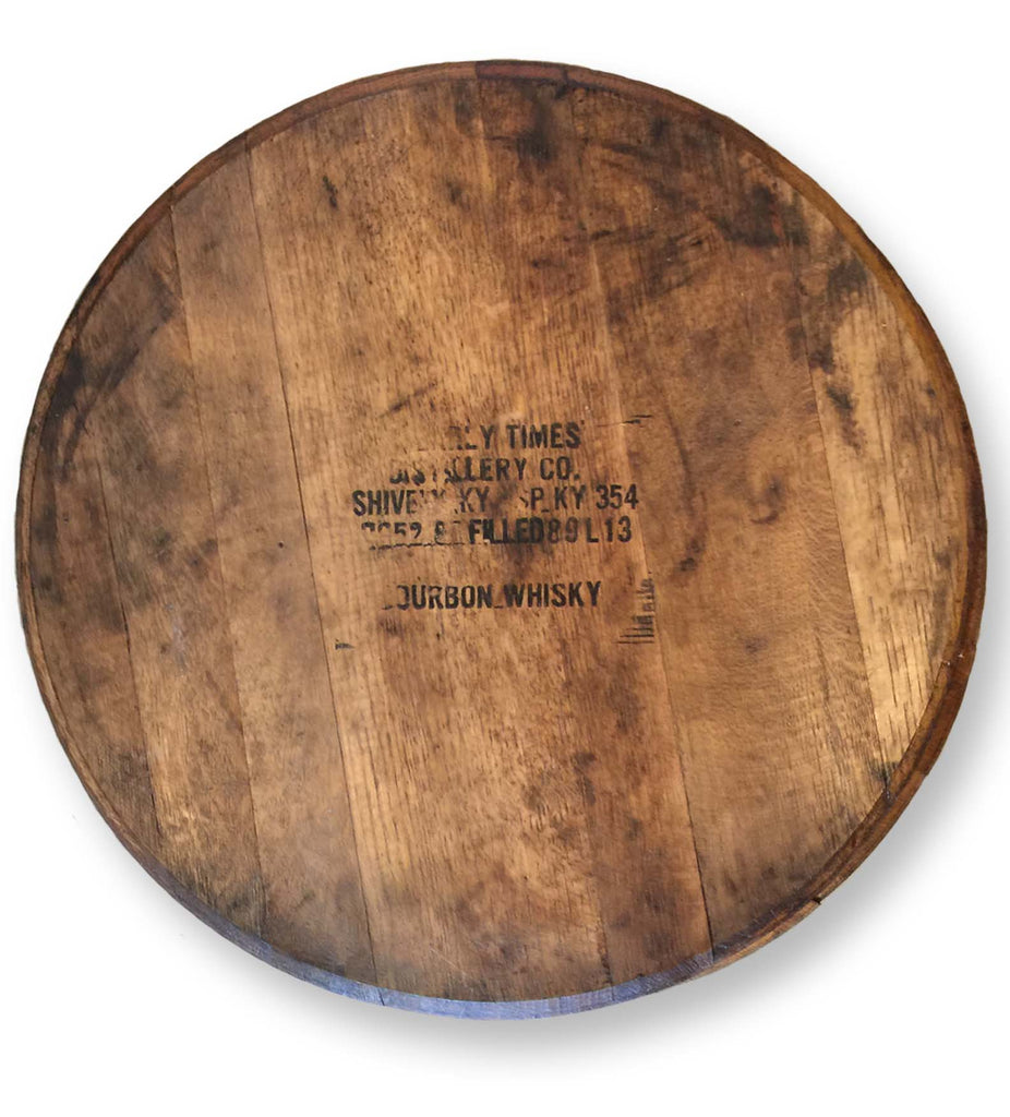 Vintage Stamped Whiskey Bourbon Barrel Lazy Susan