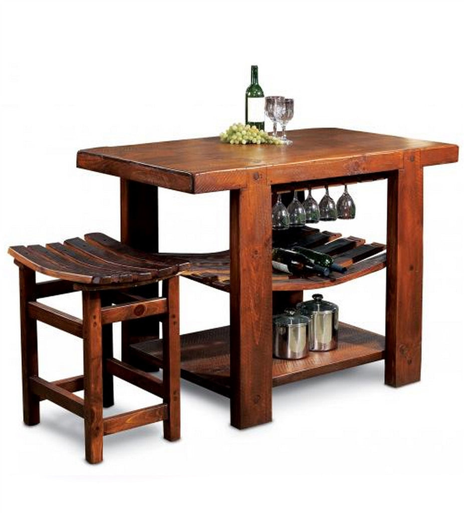 Reclaimed Wine Barrel Kitchen Island Bar