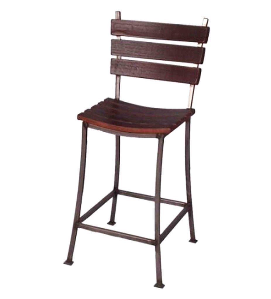 Stave Back Bar Stool Rustic Wall Co