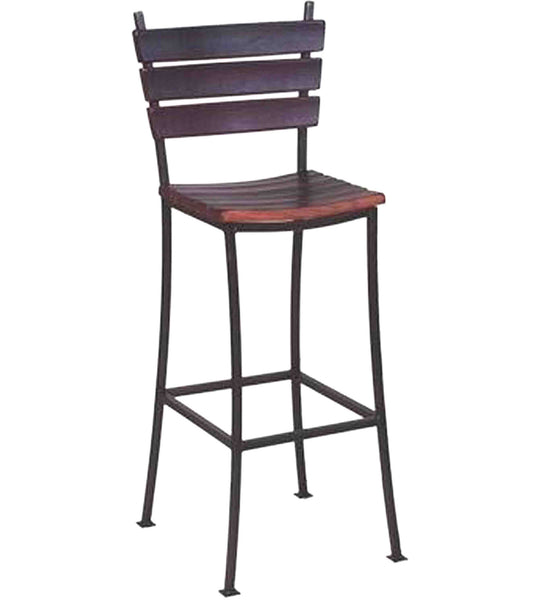 Wine Barrel Stave Back Bar Stool