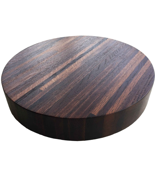 Naturally Wine Stained White Oak Lazy Susan, 12-Inches