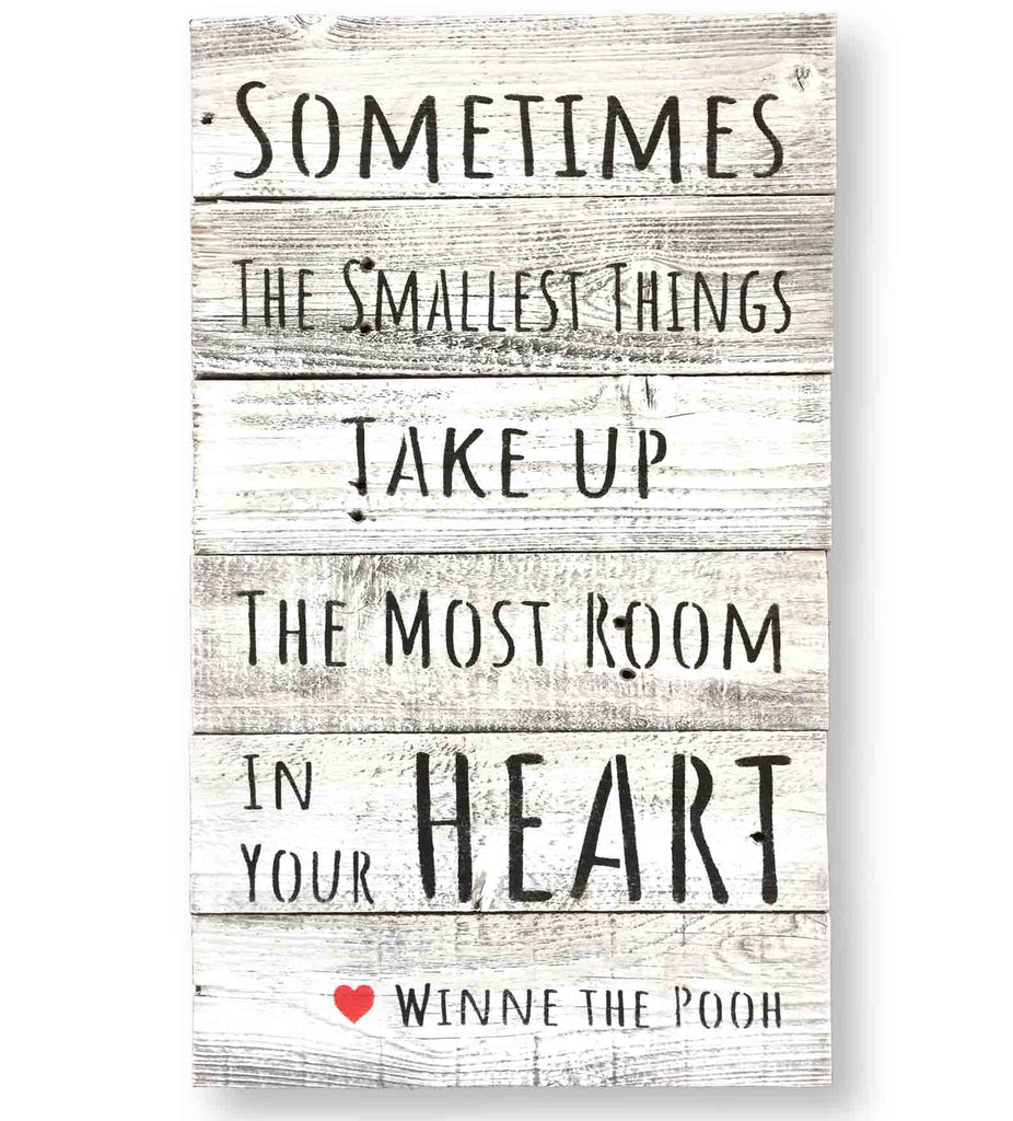 "Winnie the Pooh Quote ""Sometimes the Smallest Things.."" Wall Art (15 x 24)"