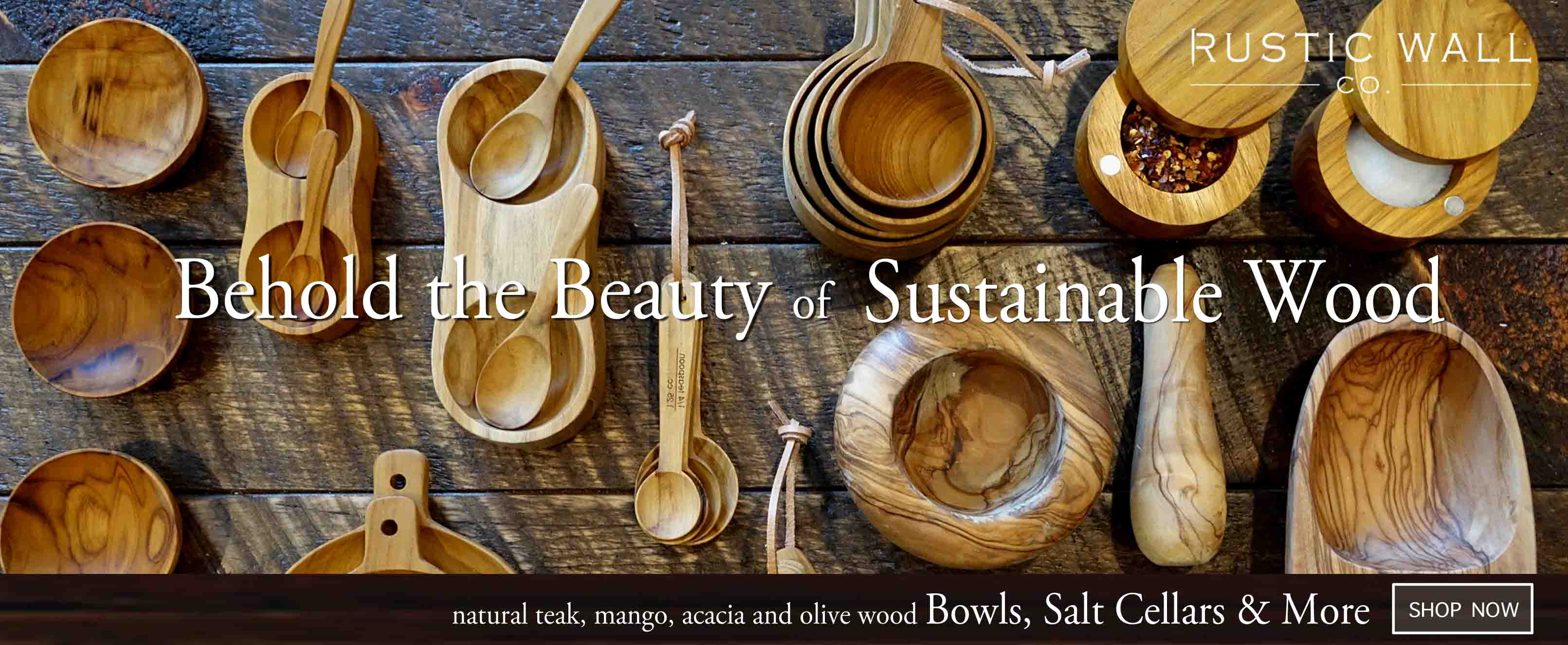 Natural Wood Spoons and Utensils