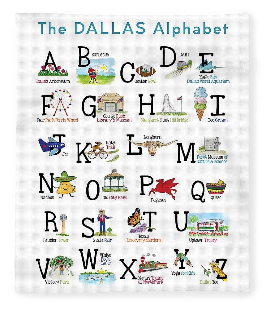 "ABC's of Dallas Children's Blanket 50"" x 60"""