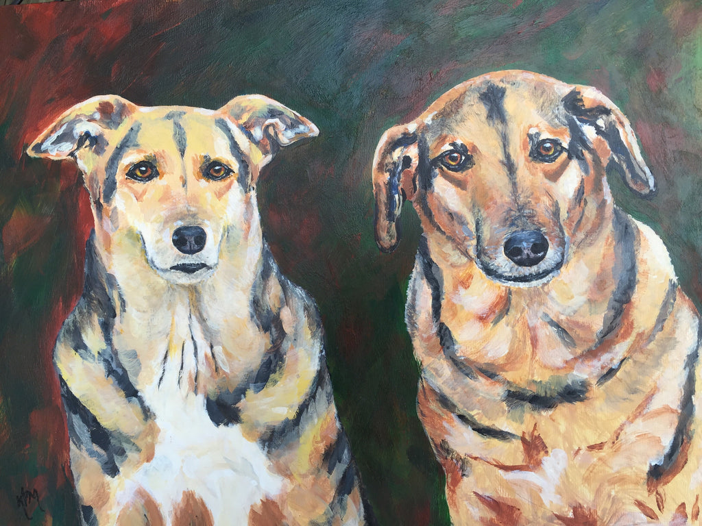 "Gwokie & Mabel - 12""x12"""