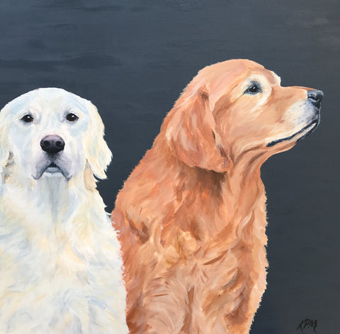 "Levi & Dakota - 24""x24"" SOLD"