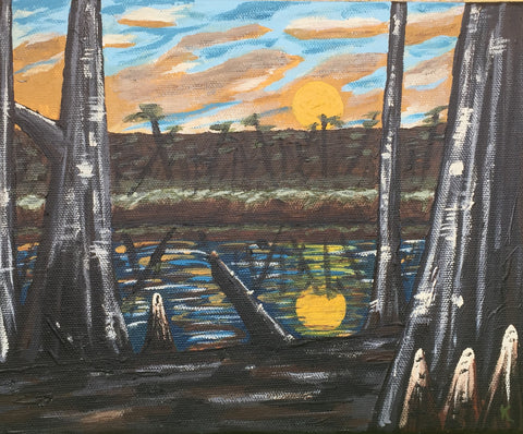 "Arkansas Flooded Timber - 5""x7"" SOLD"