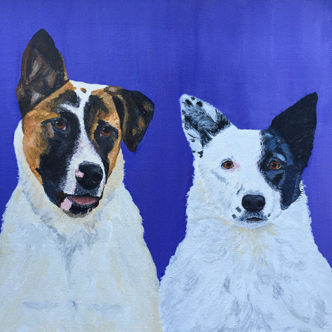 "Reilly & Saki - 12""x12"" SOLD"