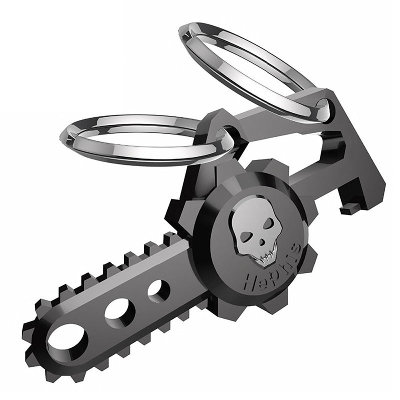 chainsaw skull key ring
