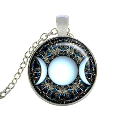 Triple Moon Goddess Pendant