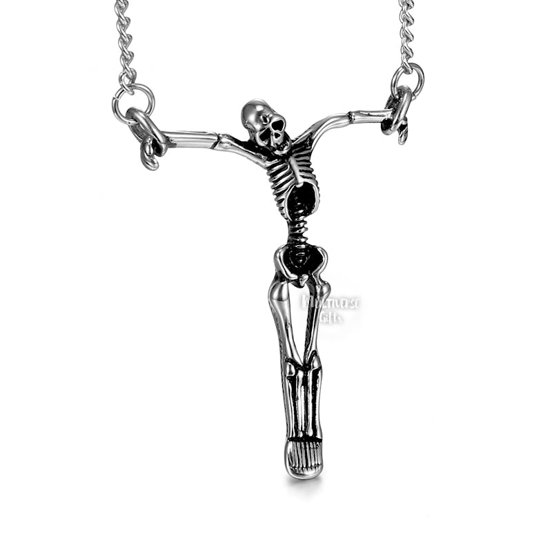 skeleton cross pendant