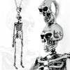 side view - skeleton pendant key ring