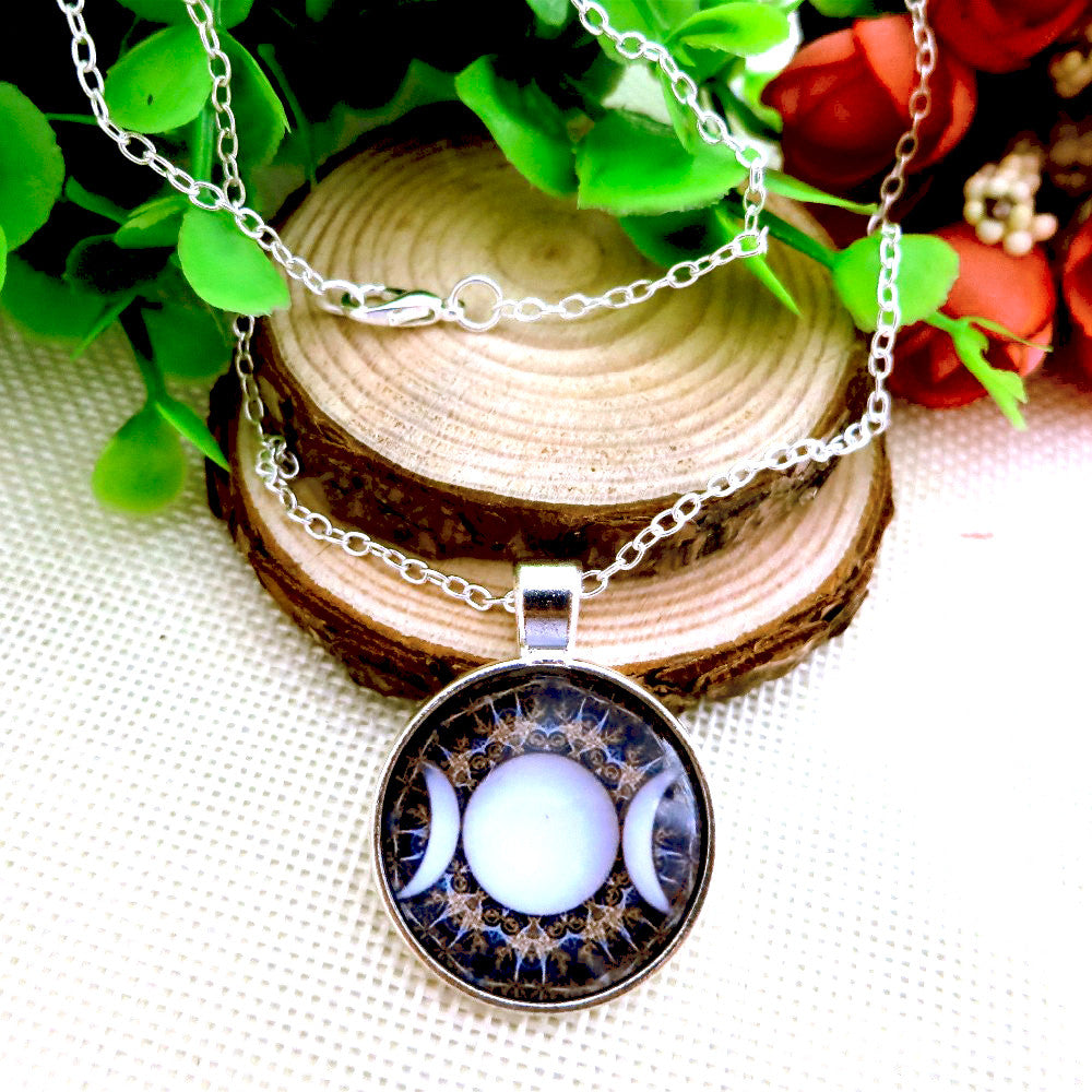 Moon goddess pendant triple moon goddess pendant mozeypictures Image collections