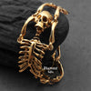 gold skeleton bracelet