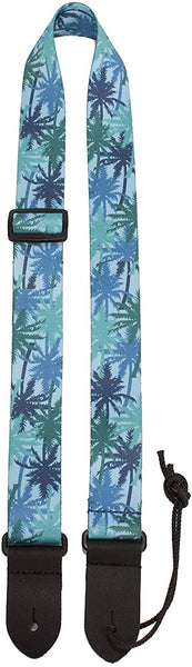Perri's Blue Palm Trees Ukulele Strap