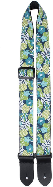 Perri's Blue Leaves Ukulele Strap