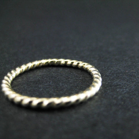 Twisted Stacking Ring | Hammered