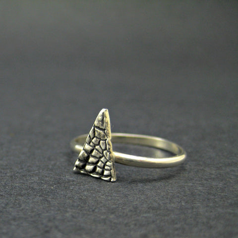 Triangle Scales Ring