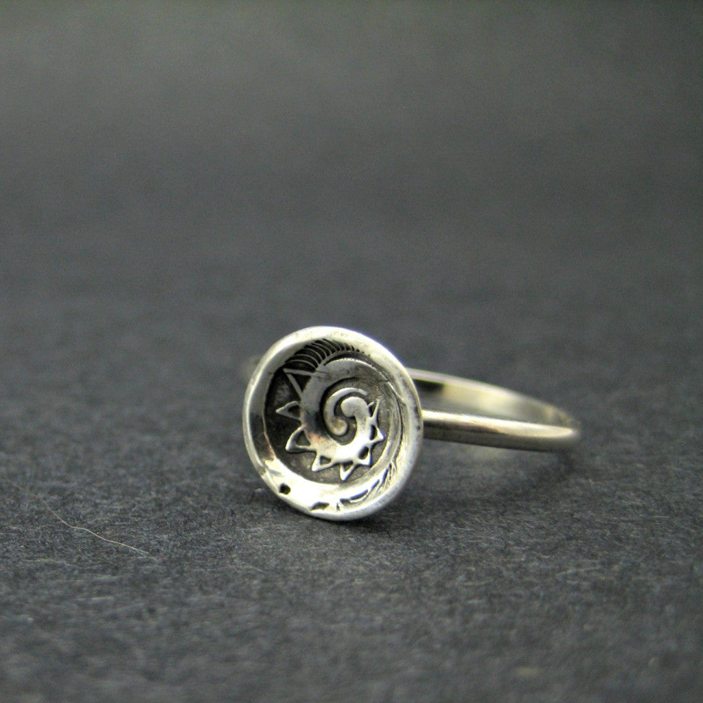 Spiral Cup Ring