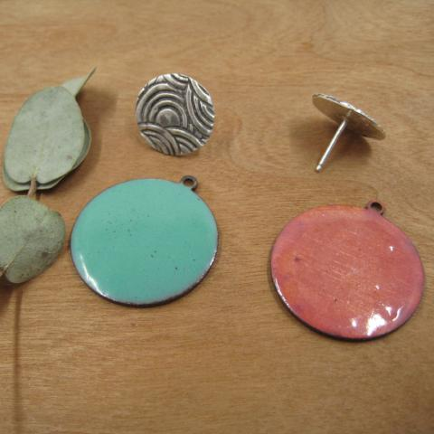 Sunset Circle with Enamel Ear Jacket