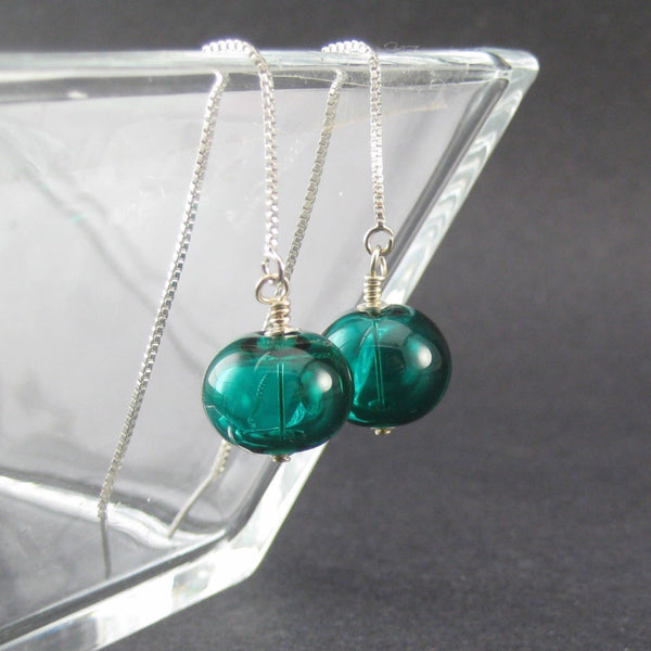 Dark Teal Glass Threaded