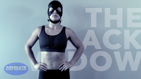 The Black Widow female submission wrestler Absolute Mixed Wrestling