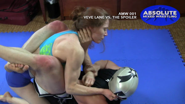 VeVe Lane The Spoiler mask pull choke intergender apartment Absolute Mixed Wrestling