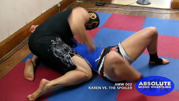 Karen The Spoiler punch submission intergender apartment Absolute Mixed Wrestling