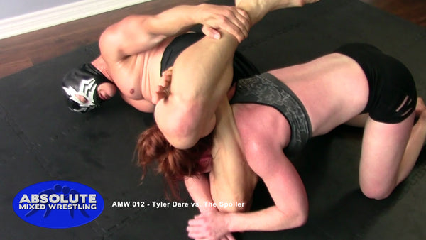 Tyler Dare The Spoiler competitive intergender apartment Absolute Mixed Wrestling triangle choke
