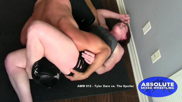 Tyler Dare The Spoiler competitive intergender apartment Absolute Mixed Wrestling triangle choke smother