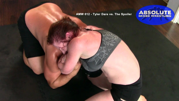 Tyler Dare The Spoiler competitive intergender apartment Absolute Mixed Wrestling choke