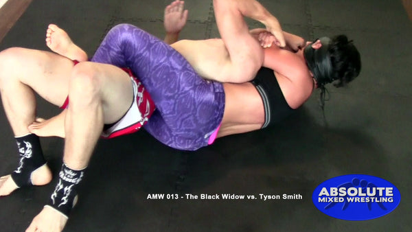 Black Widow rear-naked choke Tyson Smith apartment mixed wrestling BJJ