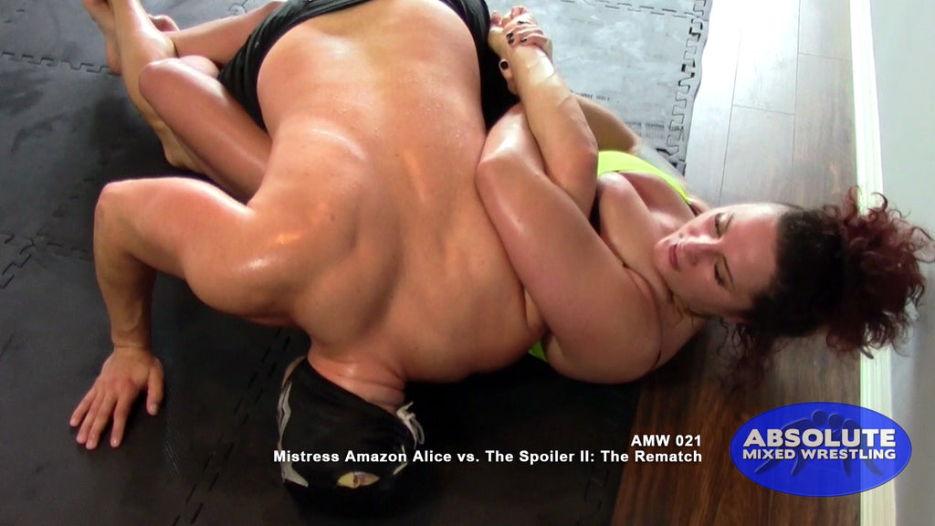 Mistress Amazon Alice wrist lock kimura The Spoiler intergender apartment Absolute Mixed Wrestling