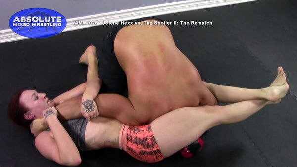 Jolene Hexx The Spoiler competitive submission apartment Absolute Mixed Wrestling headscissor armbar