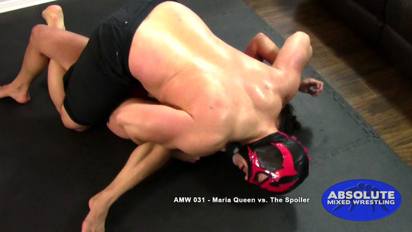 The Spoiler Maria Queen male vs female triangle choke real competitive apartment Absolute Mixed Wrestling