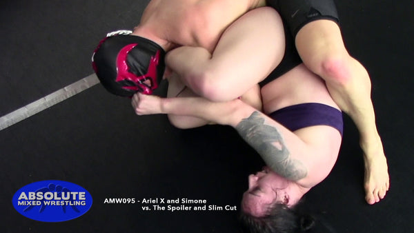 AMW095 - Ariel X and Simone vs. The Spoiler and Slim Cut