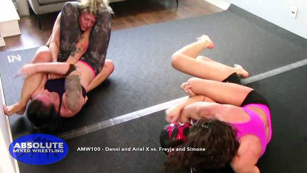 Ariel X Simone female submission wrestling tag-team match