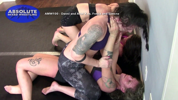 AMW100 - Danni and Ariel X vs. Freyja and Simone