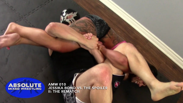 Jessika Bond headscissors head-scissors intergender Absolute Mixed Wrestling