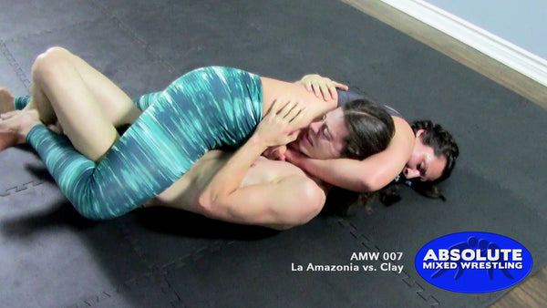 La Amazonia Clay competitive submission intergender apartment Absolute Mixed Wrestling guillotine