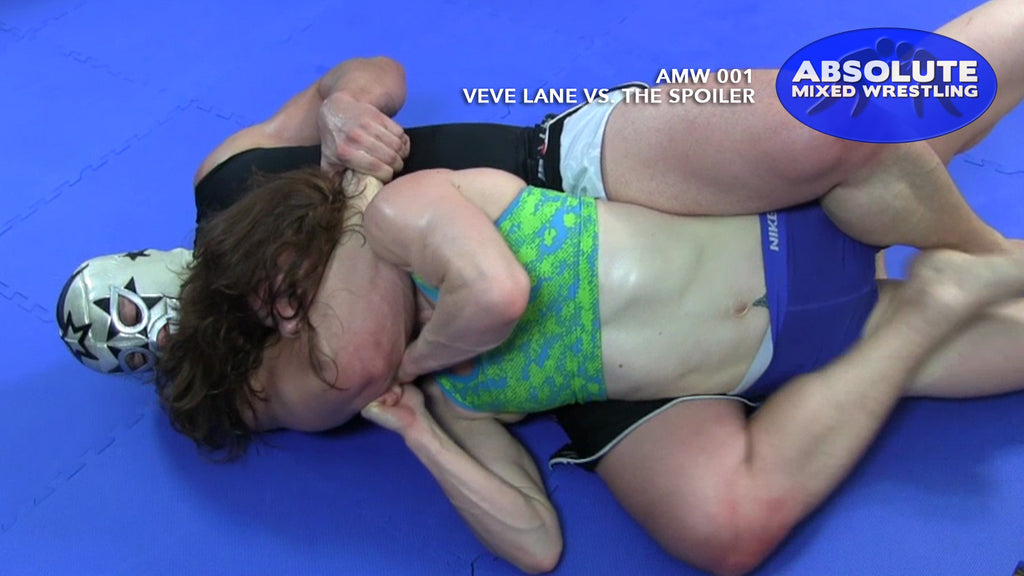 VeVe Lane Absolute mixed apartment wrestling submission rear-naked choke