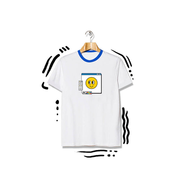 T-shirt Paint Smiley Shortsleeve White
