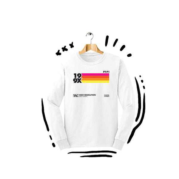 T-shirt 199x Red Rainbow Longsleeve White
