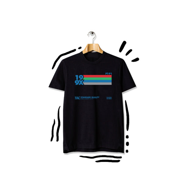 T-shirt 199x Blue Rainbow Shortsleeve Black