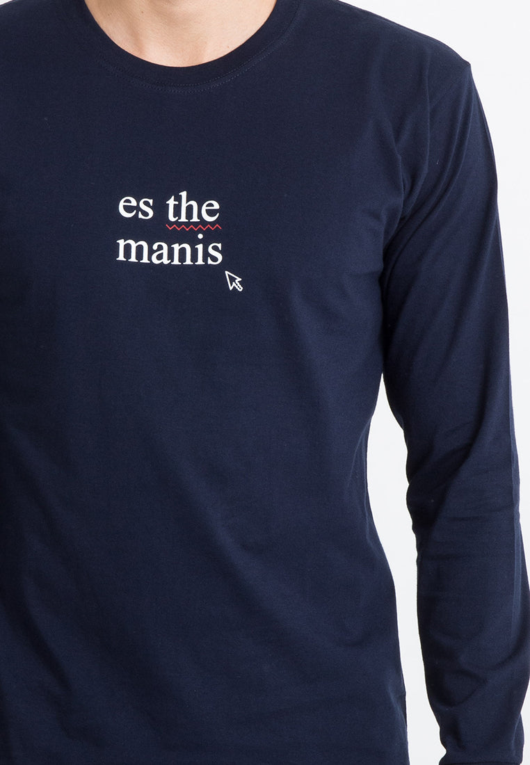 T-shirt Es The Manis Longsleeve Navy