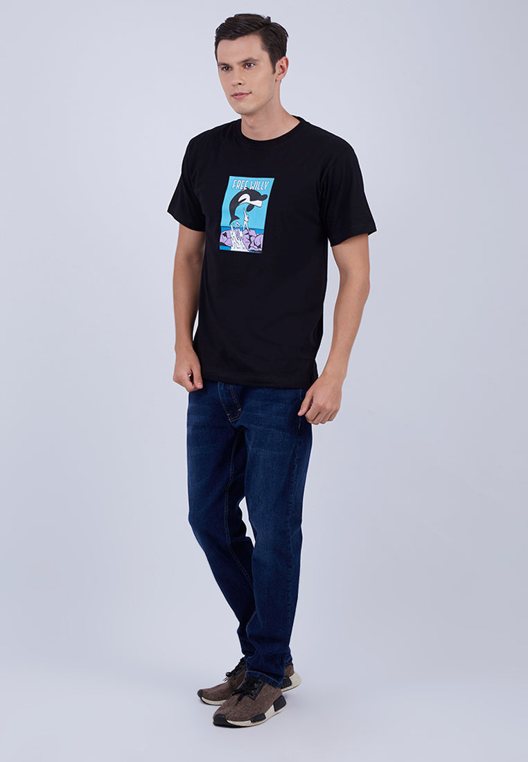 T-shirt Free Willy Shortsleeve Black