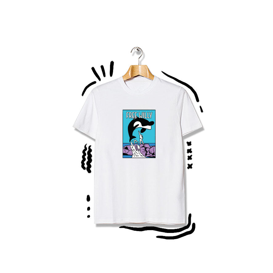 T-shirt Free Willy Shortsleeve White