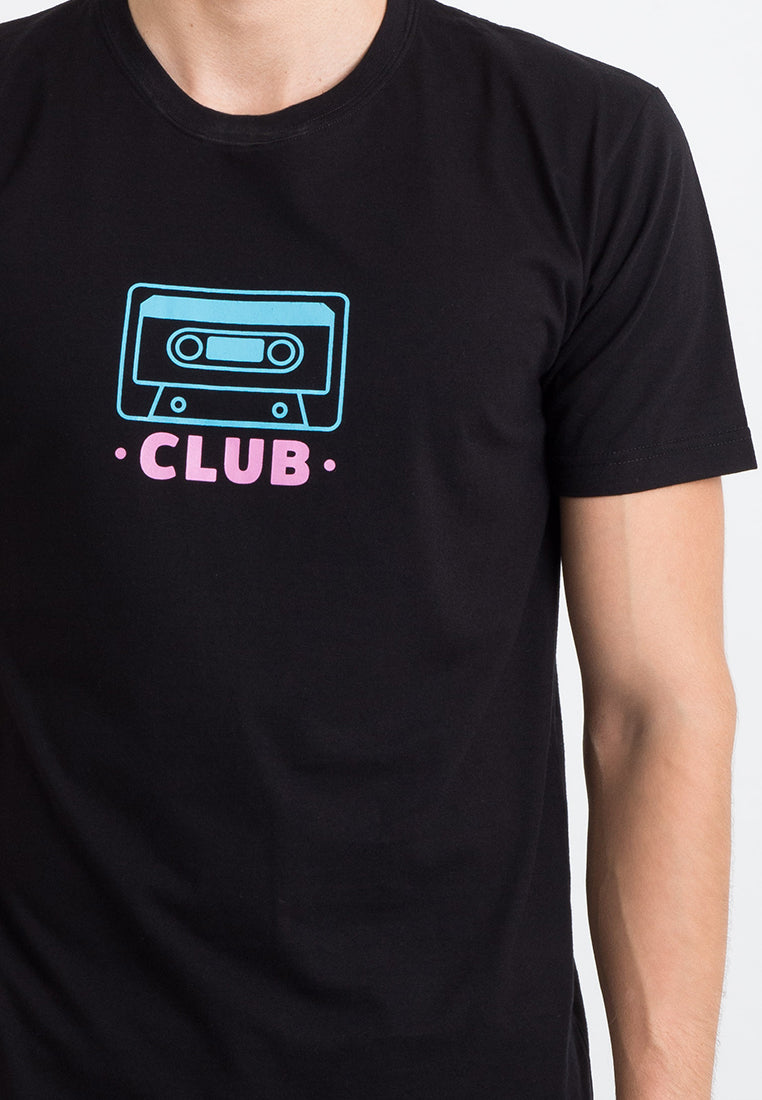 T-shirt Kaset Club Short Sleeve Black
