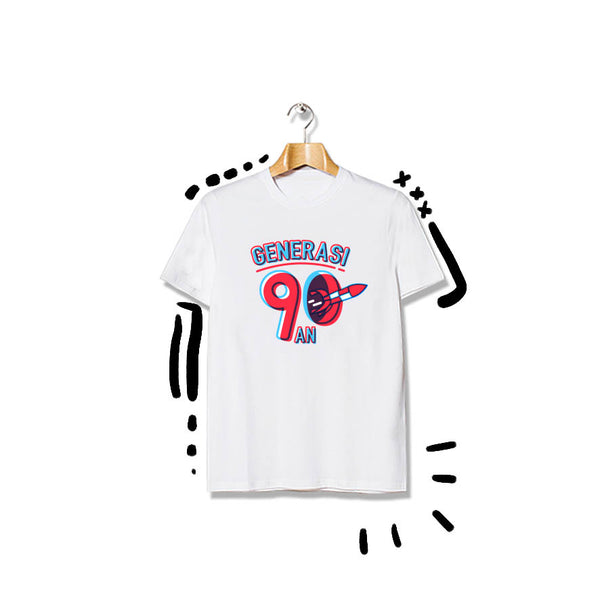T-shirt Logo Rocket Short Sleeve White
